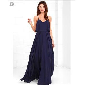 Love Runs High Navy Blue Maxi Dress